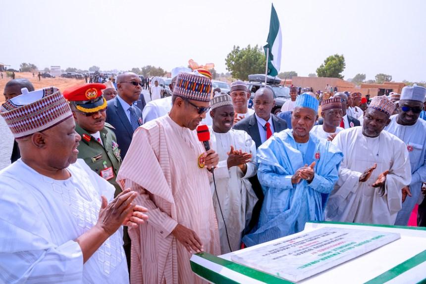 Mr Buhari commissioning the Transport University in Daura [Photo: Thisdaylive]
