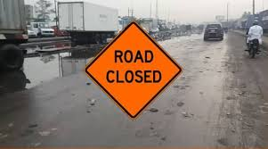 Mile 2 – Apapa road closed [Photo: Th Nation]