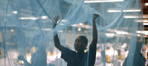 Mosquito net used to tell the story. [PHOTO CREDIT:The Guardian Nigeria]