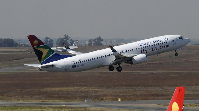 South African Airways plane used to tell the story. [CREDIT: SAairline.co.za]