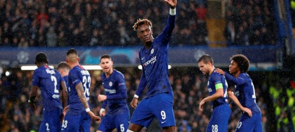 Tammy Abraham celebrates after scoring for Chelsea (Photo Credit: Reuters on Google)