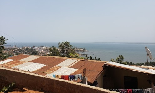 View from the hill where Lamin's grandmother lives