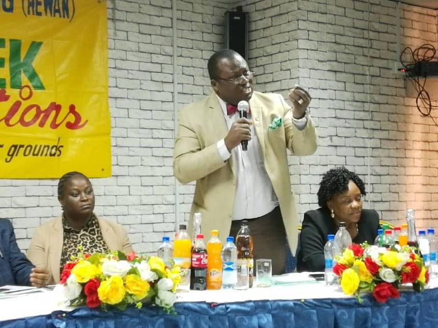 Dr Francis Faduyile, National President, Nigeria Medical Association (NMA) at a symposium by Health Writers Association of Nigeria (HEWAN) in Lagos.
