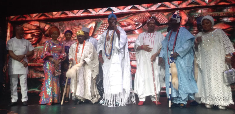 Ooni of Ife at the Queen Moremi Ajasoro Musicals