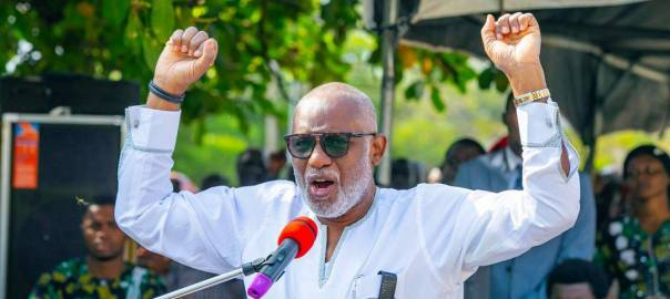 Ondo State governor, Rotimi Akeredolu. [PHOTO CREDIT: Official Twitter handle of Akeredolu]