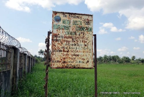 NDDC signpost at Mmahu