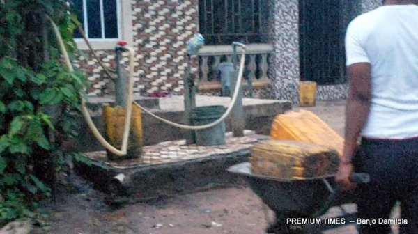 Resident of Obile Going to Fetch water