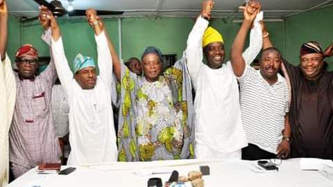 The pictures attached showing Alli, Lanlehin, Ayorinde, Makinde and Ladoja when they agreed to support Makinde in March 2019.