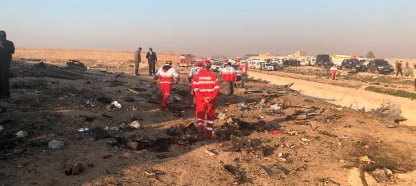 Scene of the Ukrainian plane crash (Photo Credit: CGTNOfficial on Twitter)