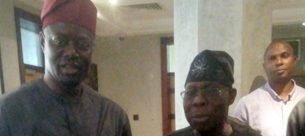 Former President Olusegun Obasanjo and Oyo State governor, Seyi Makinde