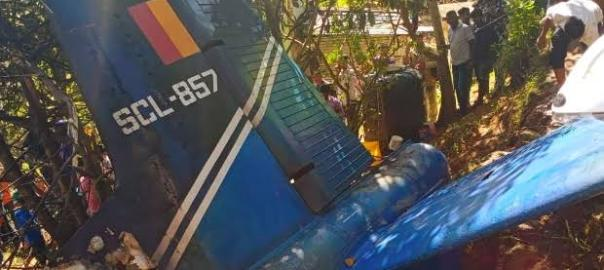 The crashed Sri Lankan Air Force plane [PHOTO: MSN.COM]