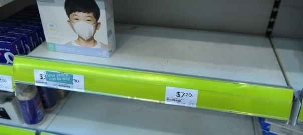 Marks are selling out in Singapore amid concerns about the Wuhan Coronavirus [Ng Sor Luan-EPA]