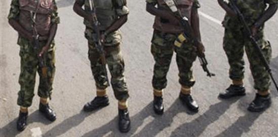 Men in military uniform