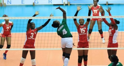 Nigerian National volley ball team playing volleyball. [PHOTO CREDIT: Daily Times Nigeria]