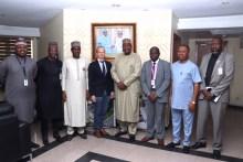 Swedish Ambassador to ECOWAS, Ghana, Cameroon and Nigeria, Mr. Carl Grans at NCC Head Office
