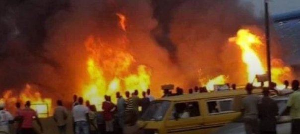 Pipeline fire in Abule Egba,