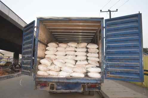 The 300 bags of fertiliser stolen