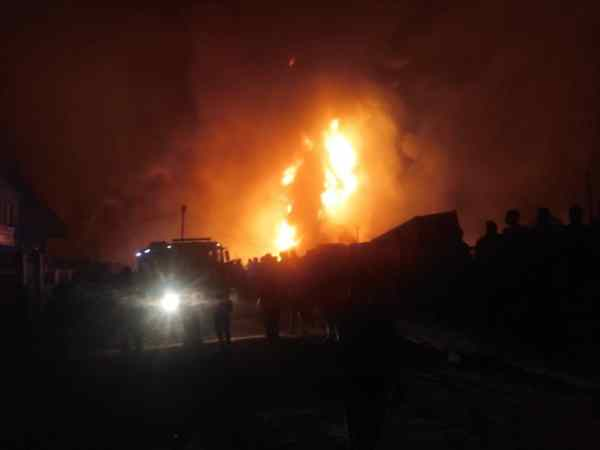 At least two people died while 11 trailers were destroyed in a pipeline explosion at Eroko Road, Ile Epo Bus Stop in Abule Egba.