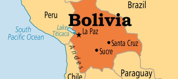 Bolivia map used to tell the story. [PHOTO CREDIT: ICEF Monitor]