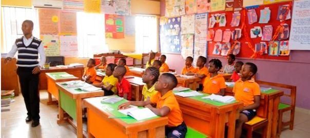 A Teacher teaching in a Primary School