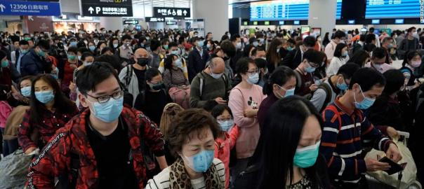 People wearing face mask used to tell the story. {PHOTO CREDIT: CNN]