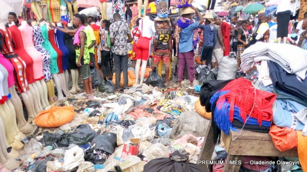 Clothe section in Ngwa Market