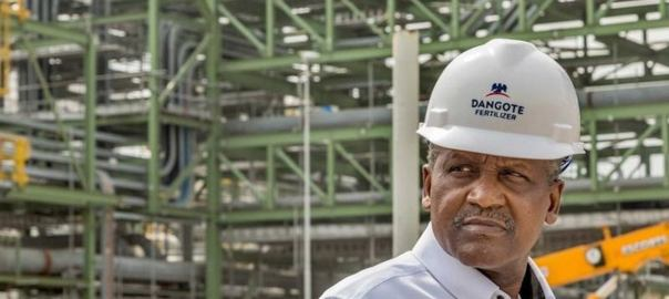 Aliko Dangote on his fertilizer plant. [PHOTO CREDIT: THISDAYLIVE]