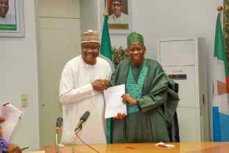 Ganduje signs the Kano transmission line agreement
