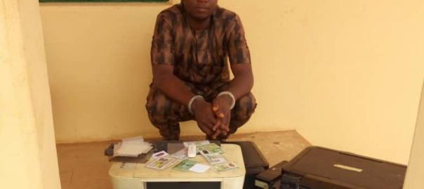 Ojo Adeyinka, man nabbed for forging riders' identity cards in Lagos