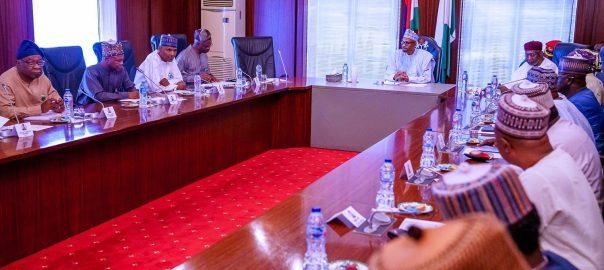 President Muhammadu Buhari at the Economic Advisory Council