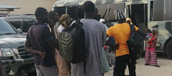 Ex-Boko Haram members who surendered in the Niger Republic arrive Maiduguri
