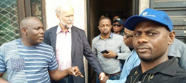 Norwegian Ambassador to Nigeria, Jens-Petter Kjemprud, during a stop-over vist to late Ken Saro-Wiwa's home in Port Harcourt. Photo Credit _ Fyneface Dumnamene