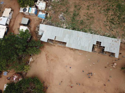 Overhead shot of Kuchingoro camp