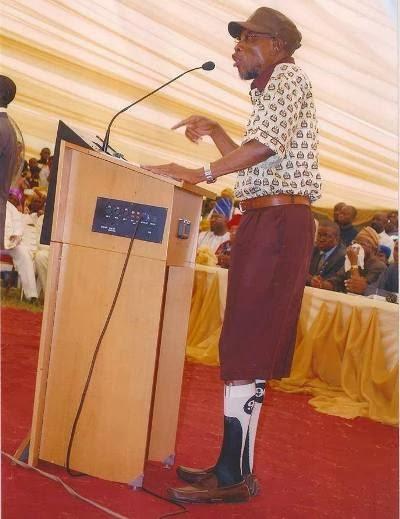 Rauf Aregbesola in school uniform