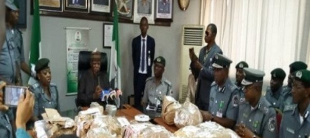 Hameed Ali, the customs comptroller-general speaking about the intercepted $8 million at Lagos airport