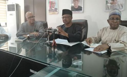 The Minister of Health, Osagie Ehanire, at a press briefing on the outbreak of Coronavirus (COVID-19) in Nigeria