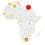 Map of countries affected by the novel coronavirus (COVID-19) 29.03.2020 [PHOTO: Africanarguments.org]