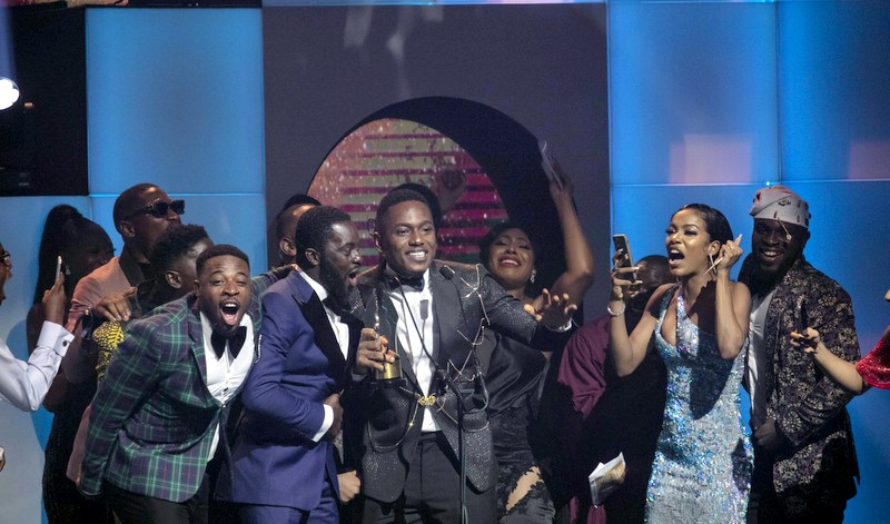 Dakore Egbuson-Akande presented the award for 'Best Actor in a Drama (Movie or TV Series) to her younger brother, Timini Egbuson