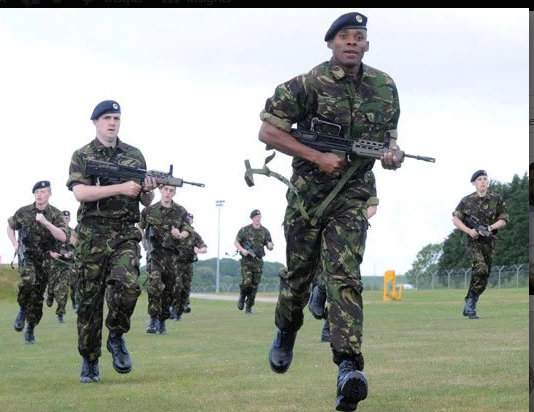Fasuba Olusoji in British Navy training