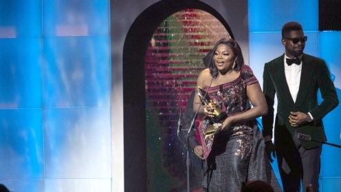 Funke Akindele won the award for Best Actress in a Comedy (MovieTV Series) for her performance in Mums at War