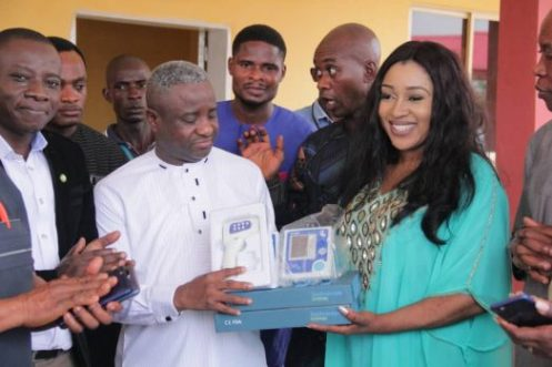 Health commissioner, Cross River state, Dr Betta Edu, hands over medical equipment to isolation centre, University of Calabar Teaching Hospital