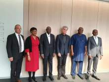 Abba Kyari (3rd left) during his visit to Germany for a meeting with Siemens officials