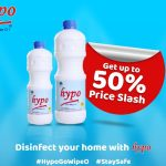 HYPO flyer showing a 50% cut in price.