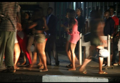 Commercial sex workers on Allen Avenue, Ikeja Lagos (Photo Credit: Medium.com)