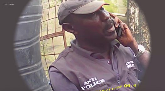 Supro Jimoh, also known as Babalawo, sitting inside the anti-cultism unit's detention centre