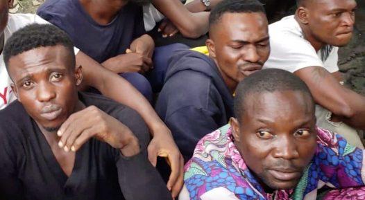 Nurudeen Usman paraded alongside othet allege suspects of cultism
