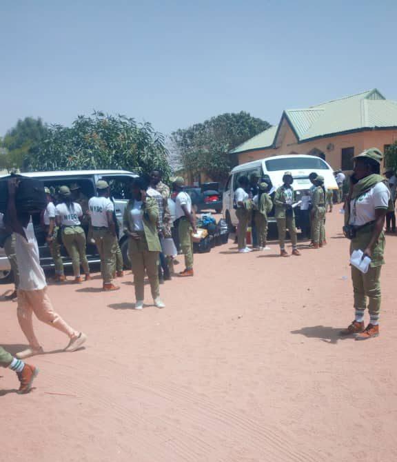 Corp Members Leaving Camp