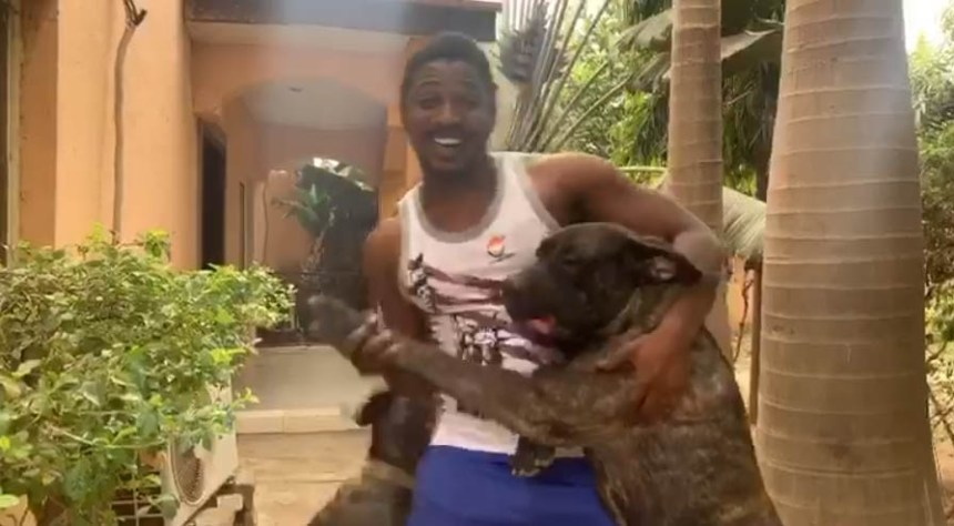 Zaharadden Sani and his Dog