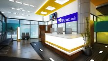 A n empty First Bank banking hall [Photo: FBN PLC]