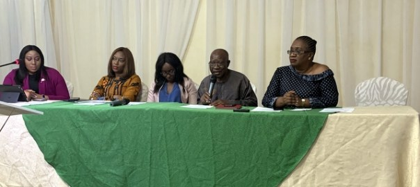 Panelists at a meeting of Abuja City Toastmasters Club in Abuja, on Thursday.